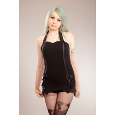 Evil clothing top ladies black 6969