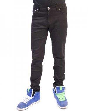 Darkside-Mens Red Gun And Star Regular Rise Skinny Jeans