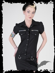 Queen of Darkness-Death Madien Shirt Dress