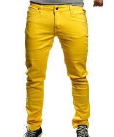 Unisex Jeans-Strecht yellow