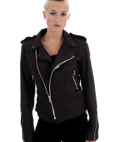 Mcr Jacket- Black/White pinstripe-HB