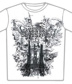 Avenged Sevenfold t-shirt-Land of cain-Wht