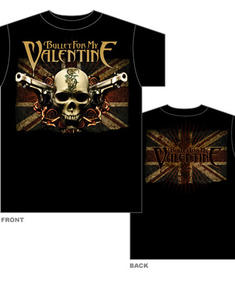 Bullet For My Valentine-T-Shirt-Flag Loggo