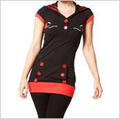 Criminal Damage Dress - Swallow Top (Black)