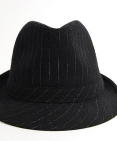 Hat-Pinstripe Blk/wht
