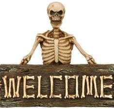 Skelett 'WELCOME'