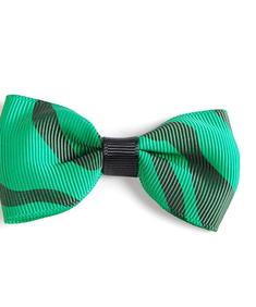 Hårspänne-Grön Zebra Rosett