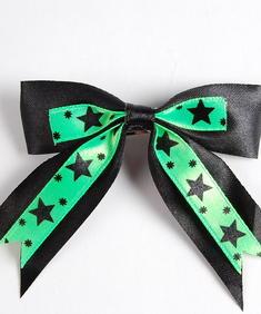 Hårspänne-Grön Stjärn Rosett