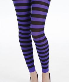 Twickers footless flo purple