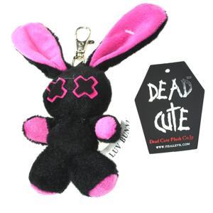 Bunny Nyckelring svart/rosa