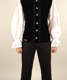 Aderlass-Dark Vest Velvet-Black