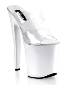 Pleaser - Xtreme-802 clear/white