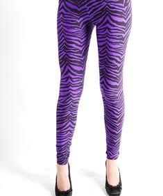 Tripp Leggings-Purple Zebra