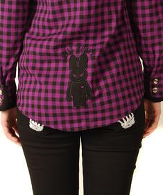 Hell Bunny-Lumber jacka / Shirt-Lila/Black