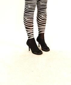Knästrumpor-Zebra Fun