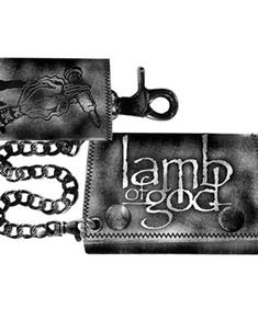 Lamb Of God- Double Chain Leather Wallet