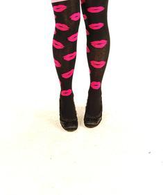 Knästrumpor-Don´t Kiss Me-Pink