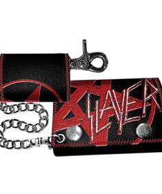 Slayer - Black Chain Wallet w/ Red Logo