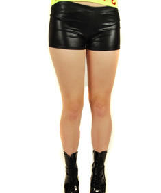 Rave-Pvc Hot Pants