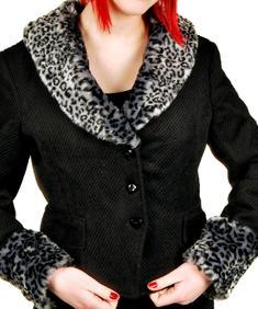 Svart/grå leopardjacka