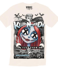 Killers never Die-Nightmare before Christmas White-T-shirt
