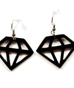 Black diamonds - örhängen