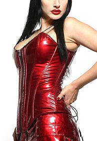 Lip Service-Fainting Room Corset-Red