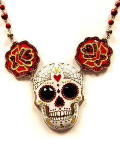 Too Fast-Mexican Skull-Necklace