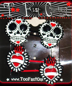Too Fast-Mexican Skull-Hairclips