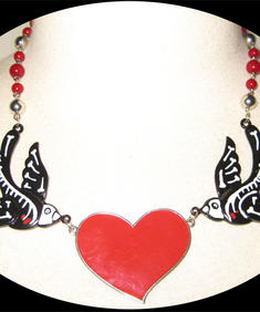 Too Fast-Skull Swallows-Necklace