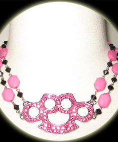 Too Fast-Pink Knuckles-Necklace