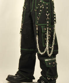 Baggy byxor,grön /svart