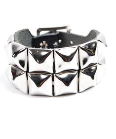 2 Row-Stud Wristband-Black