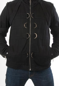LAST AMMUNITION MENS ZIP UP JACKET /BLACK