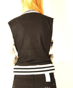 Criminal Damage-Baseball Jacket-Blk/wht