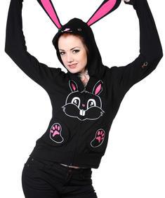 Kanin hoodie med svans och kanin öron