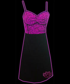Too Fast-LULA DRESS- PINK RHINESTONE KNUCKS