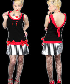 Too Fast-RED HELLO SAILOR DRESS