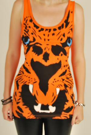 Iron Fist-The tiger-Open Back Top