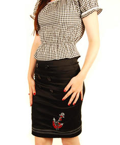 Living Dead Souls-Mary Top-Red