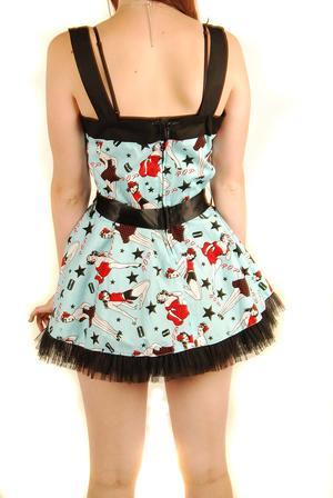 Hell Bunny-Monroe Blue-Dress