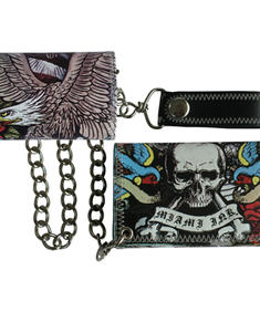 Miami Ink-Full printed wallet wth chain