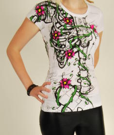 Iron Fist-White Skelleton flower-top