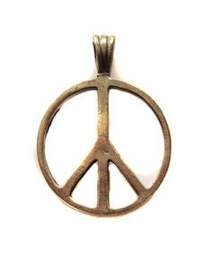 Peace märke hänge