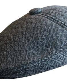 Tweed Shaped Hat with Button