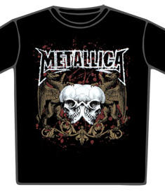Metallica-T-Shirt-Double Skull