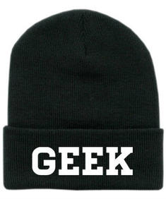 Black Beanie- Geek