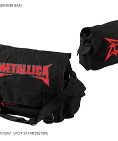 Methallica-Bag-Shaped logo red