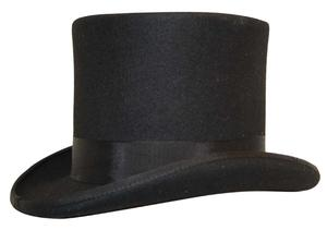 High Top Hat Black