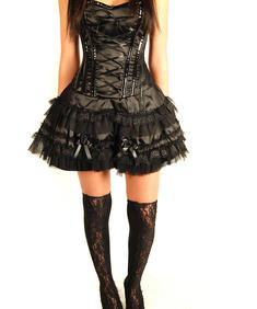 Burleska-Corset Dress-Black
